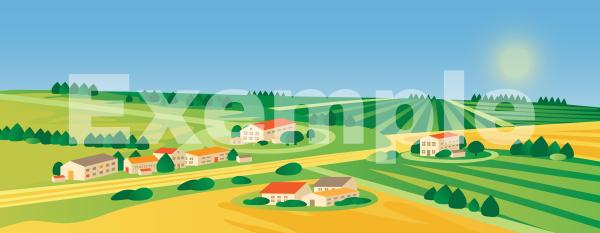 Fond village de campagne