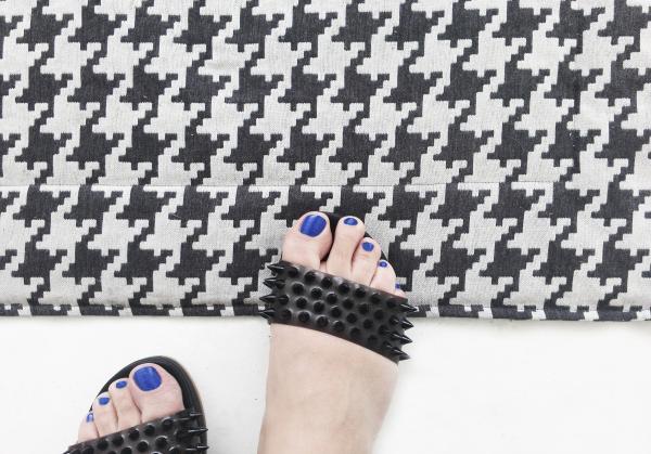 PIED DE POULE carpet CM.240X240