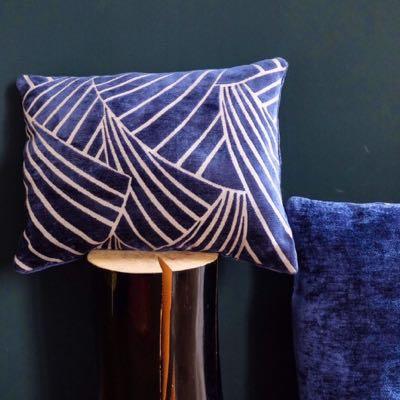 Coussin 1- bleu Art Deco 33x45