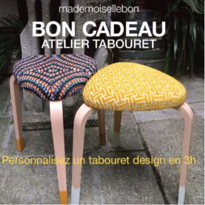 BON CADEAU Atelier Tabouret