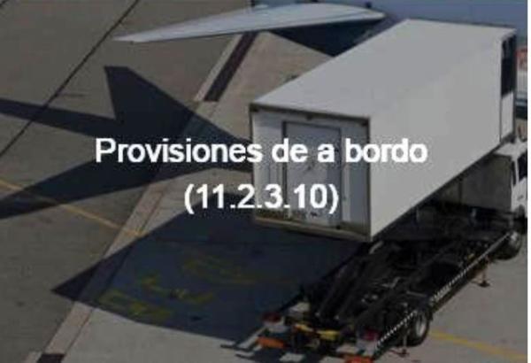 Provisiones de a bordo 11.2.3.10